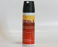 Газовый баллончик для самообороны Перец-4: капсаицин, 124х35 мм, 70 г, распыление 4-5 секунд