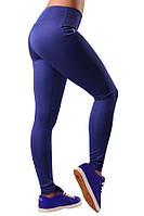 Женские синие лосины для спорта и туризма (компресионные) Blu Active