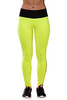 Женские лосины желтые - лимонные для фитнеса и спорта (компресионные)