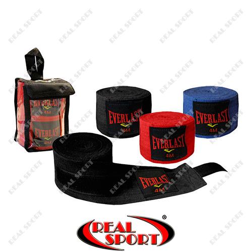 Бинты боксерские Everlast BO-3619-4 (Х-б, l-4м, цвета в ассортименте)