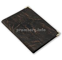 Обложка для автодокументов искусственная кожа, цвет темно-коричневый