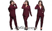 Элегантный   брючный костюм удлиненный пиджак+брюки размер 48-54