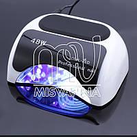 УФ LED+CCFL лампа Professional nail для гель-лаков и геля 48W с таймером 10, 30 и 60 сек. (white)