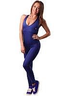 Женский спортивный комбинезон боди синий Blu Active