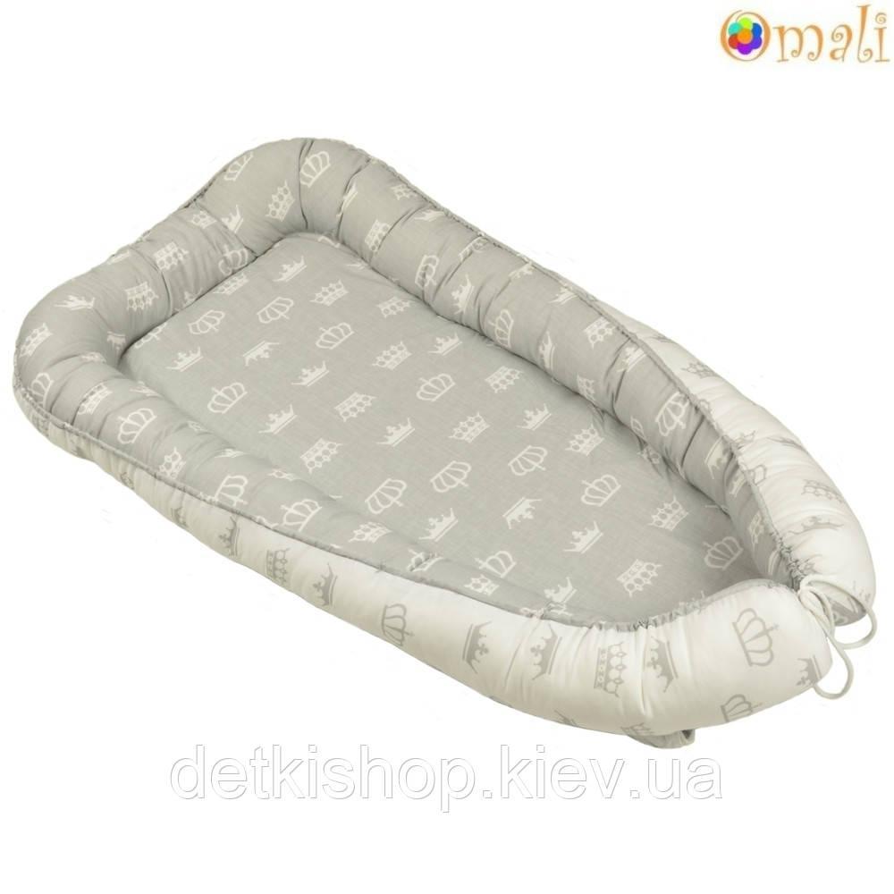 Гнездо для новорожденных ТМ «Omali» royal серое