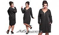 Платье женское свободного кроя ангора размеры 48- 54