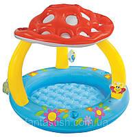 Детский надувной бассейн INTEX 57407 детский с навесом-грибок 1-3лет 102-89 см