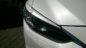 Реснички на передние фары Mazda 6 2013-2015