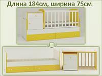 Кроватка-трансформер Metida, фото 1