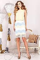 Элегантный женский  костюм Шарон желтый  Jadone  42-50  размеры