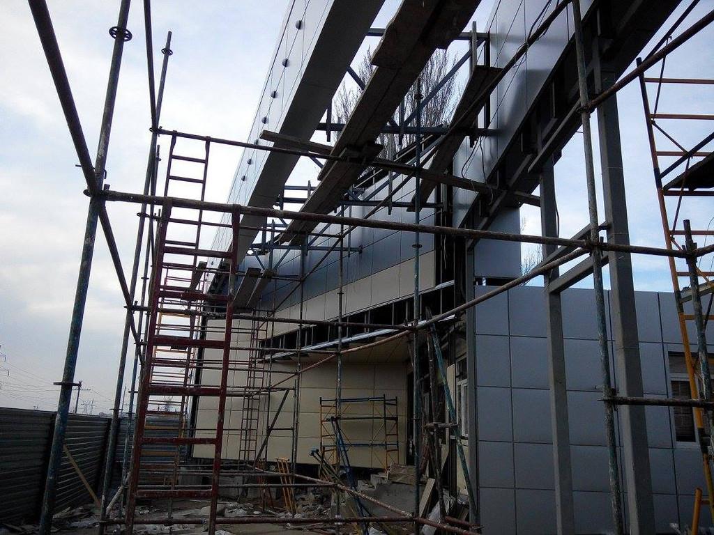 Вентилируемый фасад. г. Одесса