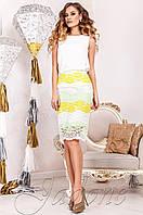 Элегантный женский  костюм Шарон молочный  Jadone  42-50  размеры
