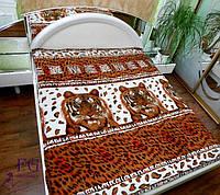 Плед двуспальный с тигром
