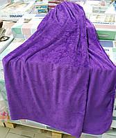 Плед-простынь 200*220 Флис однотонный (фиолетовый) 1,3кг