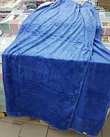 Плед-простынь 200*220 Флис однотонный (синий) 1,3кг