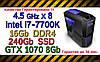 Системный блок  ( intel  i7-7700K 4.5GHz \ Z170 \ 16Gb DDR4 \ 240Gb SSD \ 2Tb HDD \ GTX 1070 8Gb \ 600W