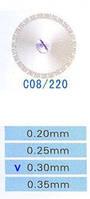 C08/220/0.30 диски алм.двухст.
