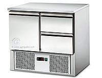 Саладетты / Охлаждающий стол 0,9мx0,7 м - с 1-ой дверкой и 2-мя шухлядами SAS97E2