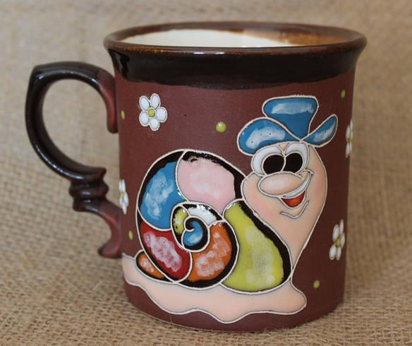 Чашка керамическая «Улитка в шляпке»