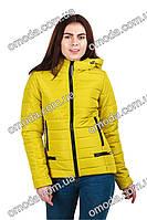 Молодежная демисезонная куртка Меган лаймового цвета