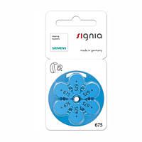 Батарейки для слуховых аппаратов Siemens/Signia 675 MF, 6 шт.