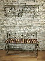 Комплект кованной мебели Step 02,банкетка и вешалка