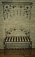 Комплект кованной мебели Step 05,банкетка и вешалка