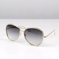 Женские очки солнцезащитные Chanel стразы, магазин очков