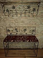 Комплект кованной мебели Step 07,банкетка и вешалка