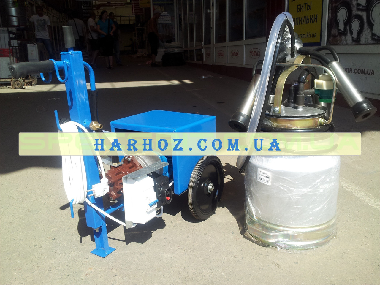 Доильный аппарат АИД-1Р масляный максимальная комплектация (1 ведро)