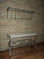 Комплект кованной мебели Step 09,банкетка и вешалка