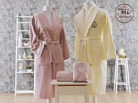 Подарочный набор бамбуковых  халатов, полотенец, тапочек Minteks 14 предметов
