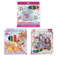 Карандаши цветные для девочек 290245 1 Вересня, 24 цв