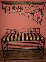 Комплект кованной мебели Step 11,банкетка и вешалка