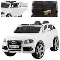 Детский электромобиль Audi Q5 M 3290 EBLR белый, мягкое сиденье, колеса EVA, амортизаторы, двери, пульт
