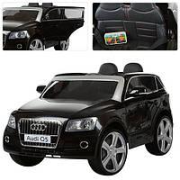 Детский электромобиль Audi Q5 M 3290 EBLR черный, мягкое сиденье, колеса EVA, амортизаторы, двери, пульт