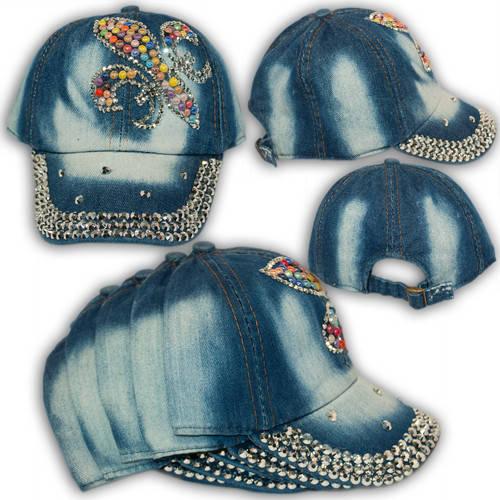 Джинсовая кепка с камнями и надписью Love, 1767_1, р. 50