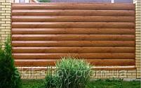 Металлический сайдинг Блок-хаус для заборов Венге!! Акция, фото 2