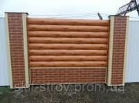 Металлический сайдинг Блок-хаус для заборов Венге!! Акция, фото 3