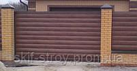Металлический сайдинг Блок-хаус для заборов Венге!! Акция, фото 4