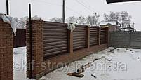 Металлический сайдинг Блок-хаус для заборов Венге!! Акция, фото 5