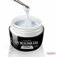 Гель Naomi строительный UV Builder Clear прозрачный, 28 г
