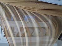 Тюль лен однотонный фактурный цвет золото, фото 1