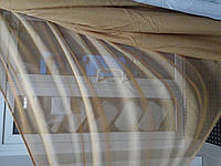 Тюль лен однотонный