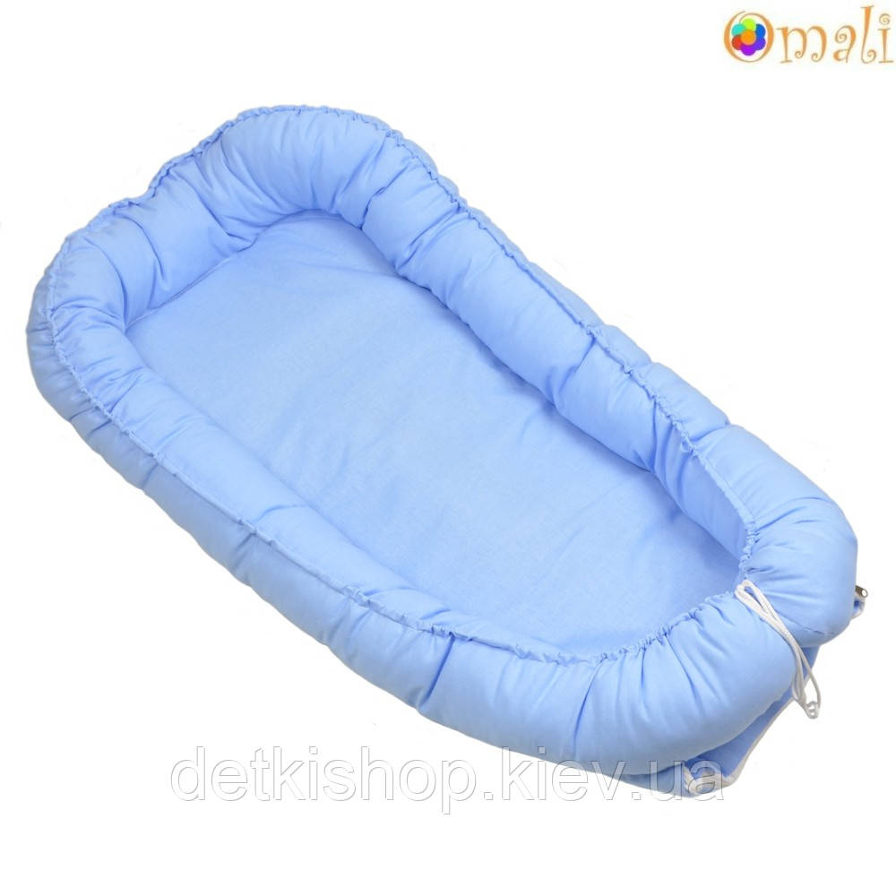 Гніздо для немовлят ТМ «Omali» блакитне однотонне