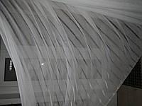 Тюль батист полоска белый
