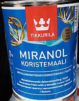 Краска Miranol серебрянная для металла и дерева Tikkurila Миранол, 1л, фото 1