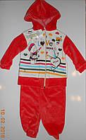 Велюровый спортивный костюмчик для малышки, Турция