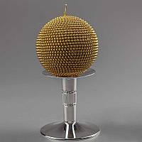 Свадебная свеча в виде шара золотистого цвета 10 см (арт. Y-035Q)