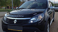 Дефлектор капота (мухобойка) Renault Sandero 2008-2013